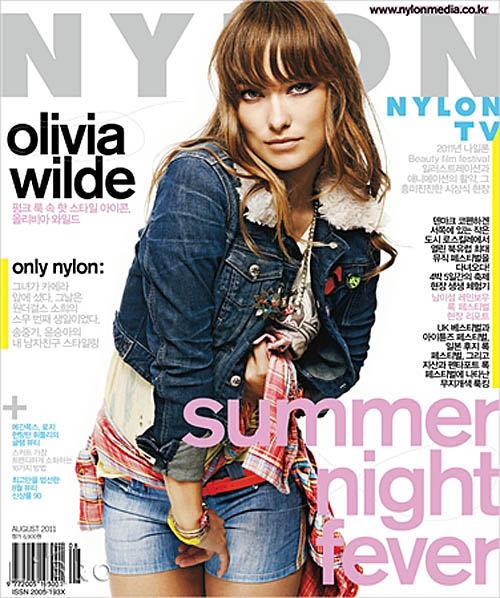 nylon korea aug 2011 - olivia wilde
